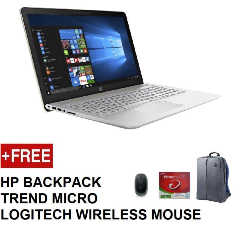 HP PAVILION 15-CK063TX (I5-8250U,4GB,1TB,MX150 2GB,W10,15.6 FHD,2YEAR ONSITE) FREE BACKPACK + TREND MICRO INTERNET SECURITY + LOGITECH WIRELESS MOUSE Malaysia