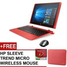 HP X2 DETACHABLE 10-P020TU (ATOM Z8350,2GB,500GB+32 EMMC,10,WIN10,1YRS WARRANTY,RED) FREE HP SLEEVE + TREND MICRO + WIRELESS MOUSE Malaysia