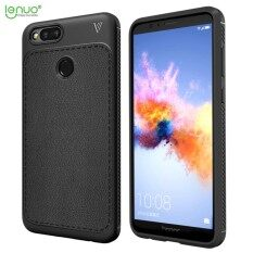 Huawei Honor 7X Case, Lenuo Leshen Luxury Shock Absorption Flexible TPU Leather Grain Anti-