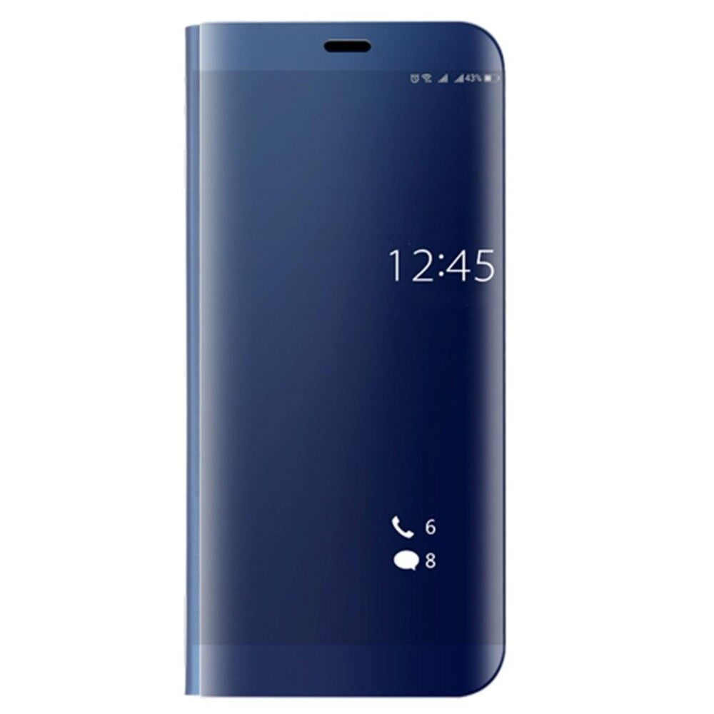 Cheap Huawei Mate 10 Pro Electroplating Pc Pu Horizontal Flip Protective Case With Stand Holder And Sleep Wake Up Function Blue Intl