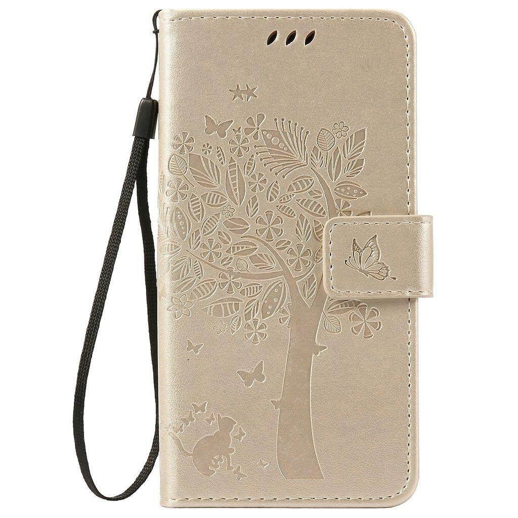 Huawei Y6 Pro Case/Enjoy 5 Case, Bujing [Gold] [Embossed]