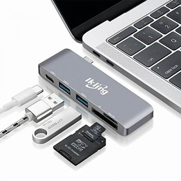 ikling USB C Hub Multiport Adapter – ikling (2018 New Design)Portable Combo Hub with USB C Charging Port 2 USB 3.0 Ports SD/TF Card Reader for MacBook Pro Lenovo Asus Google Pixel USB Type C Device Owner - intl
