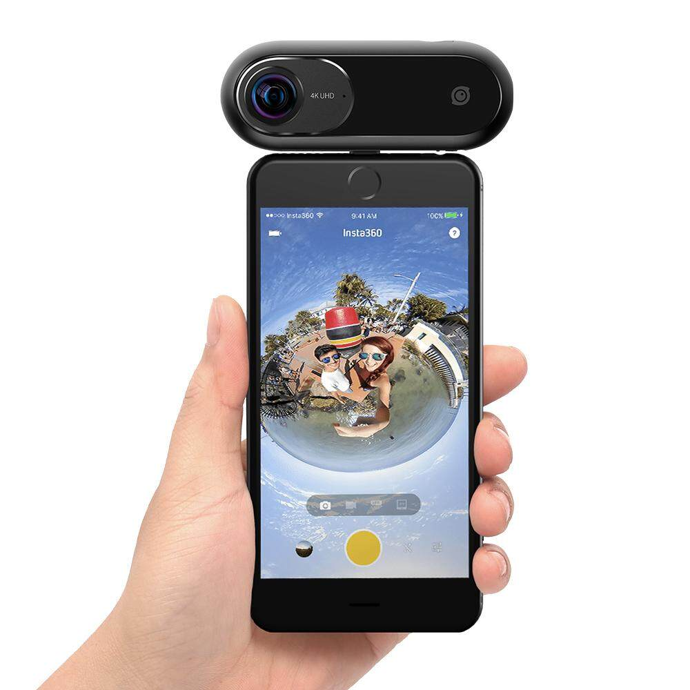 Insta360 ONE 4K 360� VR Video Action Sports Camera 24MP 120fps 6-Axis Gyroscope Support APP Free Capture Object Tracking Panoramic...