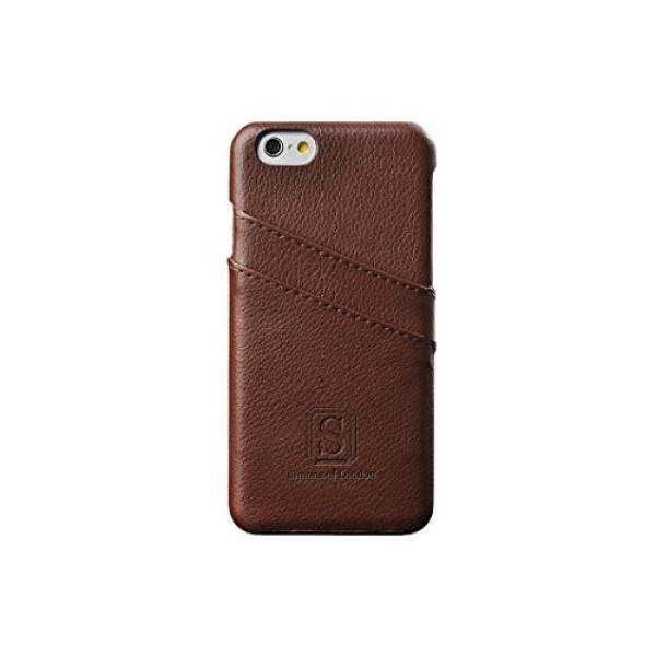 IPhone 6 Plus Dilapisi Case Kulit dengan Slot untuk Id/Kartu Bank, sempurna Potongan Pas Badan Penutup Belakang dengan Simons London Di Kotak Hadiah, Meningkatkan & Lindungi Milik Anda Apple Ponsel Hari Ini! (Walnut Brown)-Intl