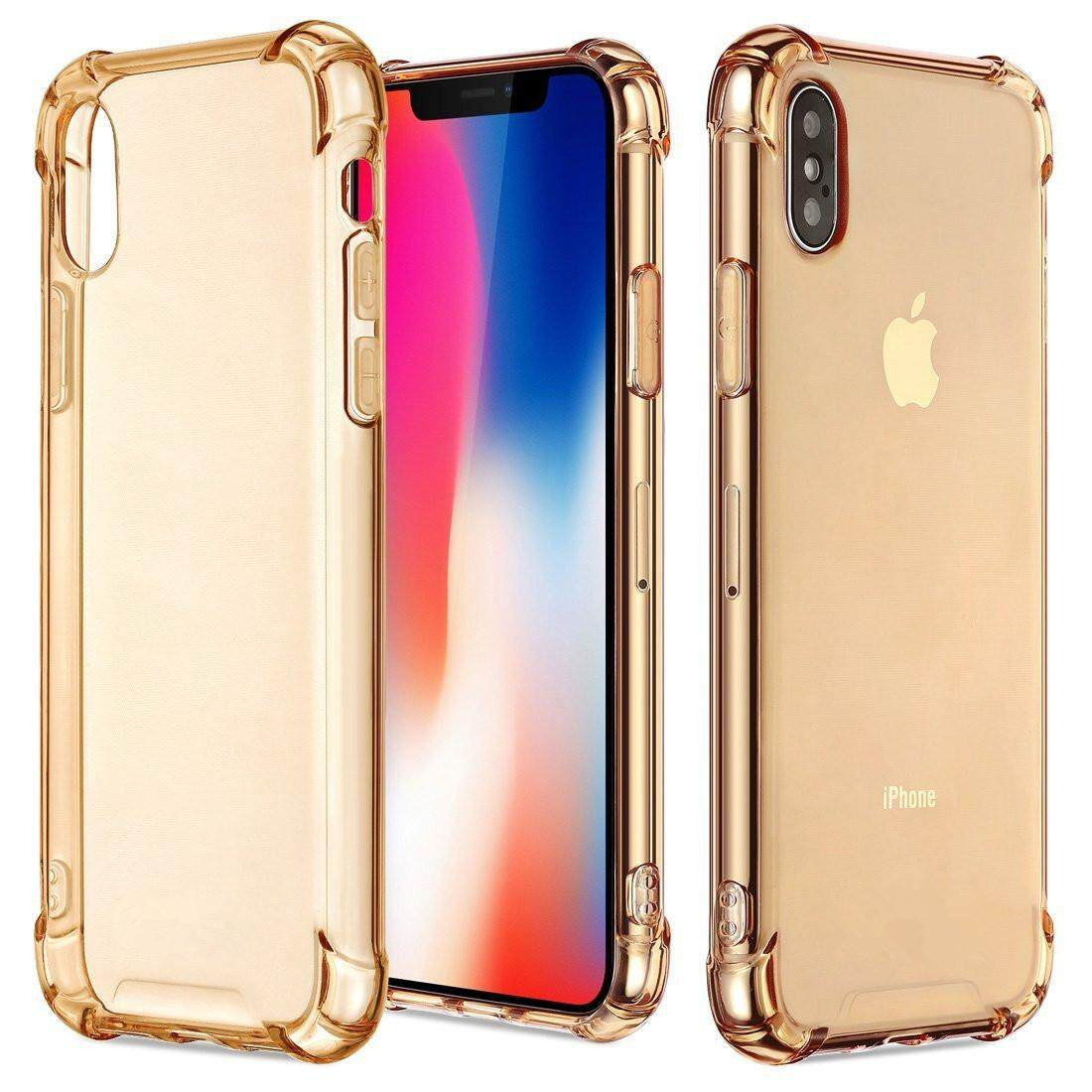 iPhone X Case, iPhone Xs Case, Clear Shockproof Bumper Cover Transparent Silicon TPU Casing