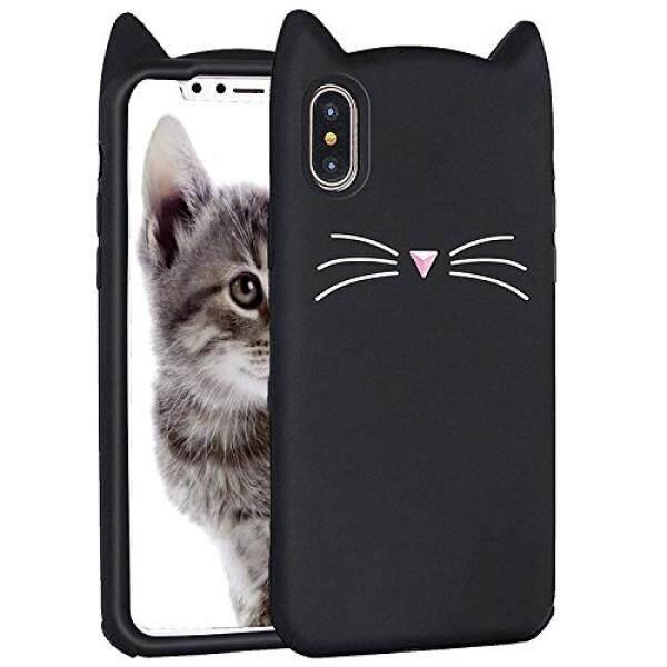 THB 1.126 iPhone X Case, Miniko(TM) Fashion Cute Kawaii Funny 3D Black