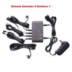 IR Remote Extender 8 Emitters 1 Receiver Infrared Repeater Hidden System Kit EU Malaysia