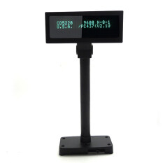 IVFD01 Electronic 2 Lines VFD Display Pole Adjustable Customer Display for Supermarket POS System Malaysia