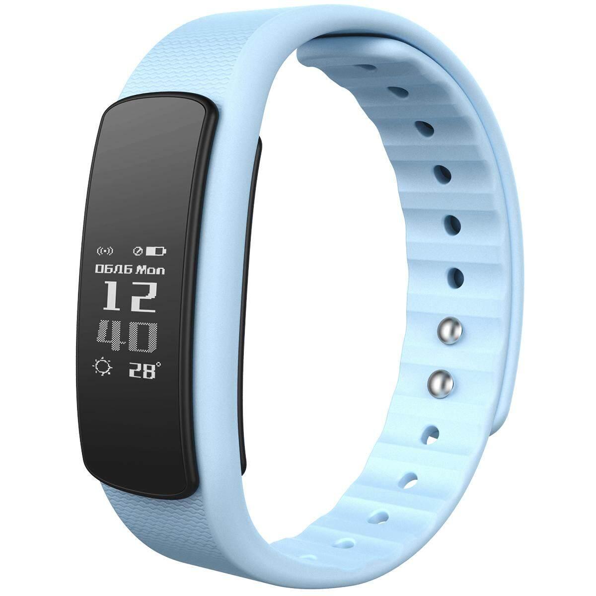 iwownfit I6HR TPU + TPE Bluetooth v4.0 IP67 Smart Wristband - Blue - intl