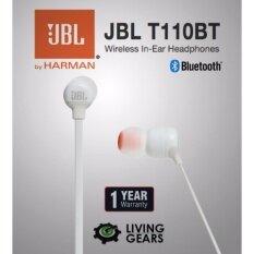 JBL T110BT Wireless Bluetooth In-Ear Headphones - Original 1 year warranty  (White)