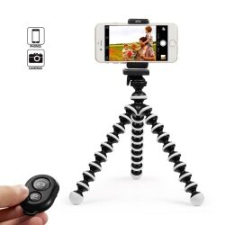 JDM Octopus Style Portable and Adjustable Tripod Stand Holder for iPhone, Cellphone,Camera with Universal Clip and Remote