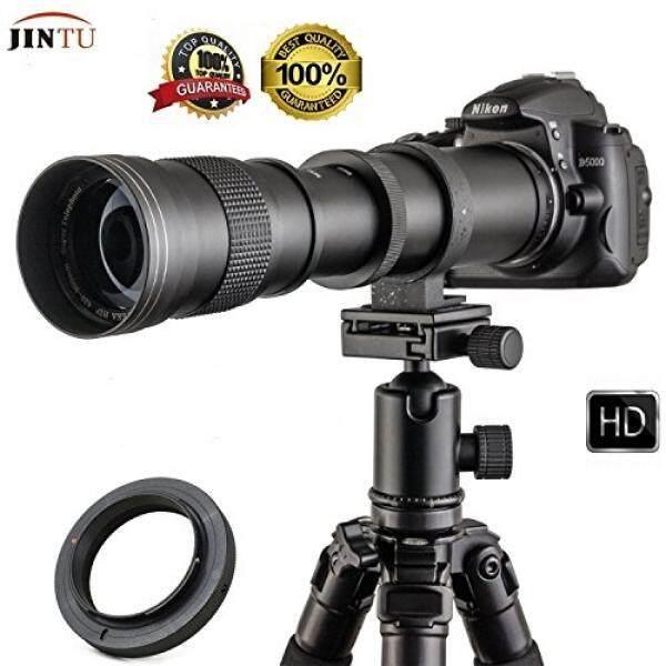 Jintu 420-800 Mm Profesional Zoom Potret Jarak Jauh F/8.3-16 HD Lensa untuk Canon EOS 700D 750D 850D 800D 650D 600D 450D 550D 1000D XS XSI DSLR Kamera Digital + Sarung Tas Kulit-Intl