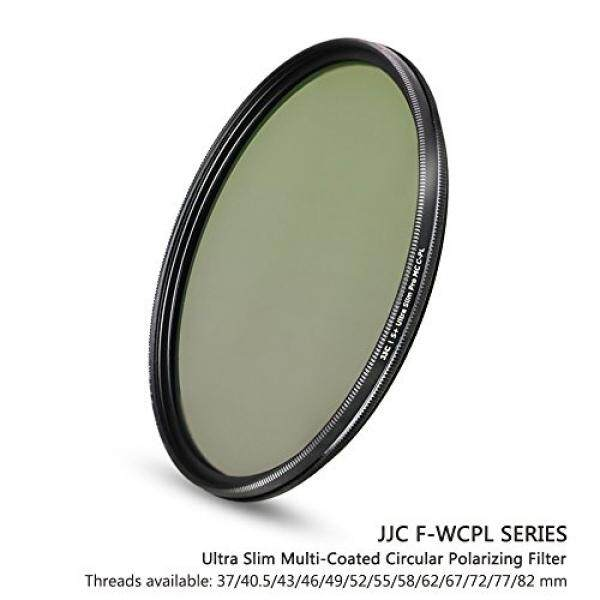 JJC 52mm 18-Layer Circular Polarizer CPL Filter for Lens with 52mm Filter Thread - e.g. for Nikon NIKKOR 18-55mm, Canon EF 40mm f/2.8, EF-S 24mm f/2.8, EF-S 60mm f/2.8, Fuji Fujifilm XF 35mm f/1.4 R - intl