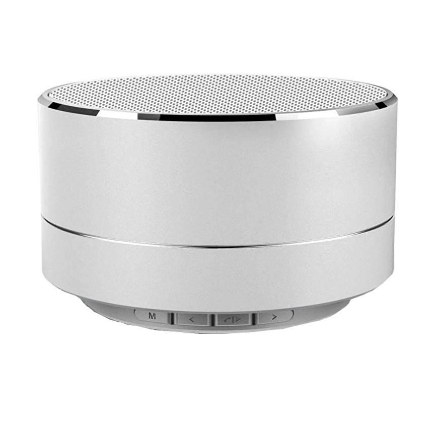 JOOX A10 Mini Portabel Bluetooth Nirkabel Pembicara Super BAS untuk Tablet Buah MP3 Smartphone. Perak