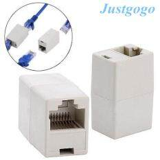 Justgogo 5pcs Newtwork Ethernet Lan Cable Joiner Coupler Connector Rj45 Cat 5 5e Extender Plug By Justgogo.