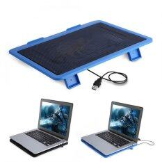 Justgogo Laptop Cooler Cooling Pad Base Big Fan USB Stand for 14 or Below Notebook Blue Malaysia