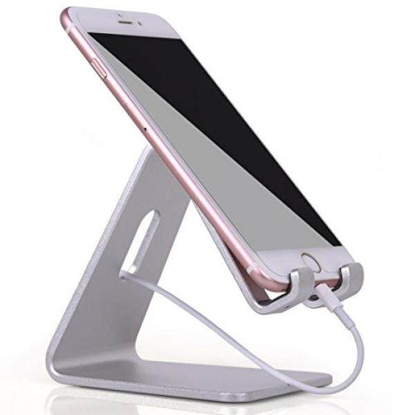 KAERSI Cell Phone Stand, KAERSI K1 iPhone iPad Universal Stand Holder, Desk Dock Mount for iPhone 6 6s 7 Plus 4s 5c 5 5s Charging, Samsung Mobile phone and Tablet Accessories iPhone Desktop Display - Silver - intl
