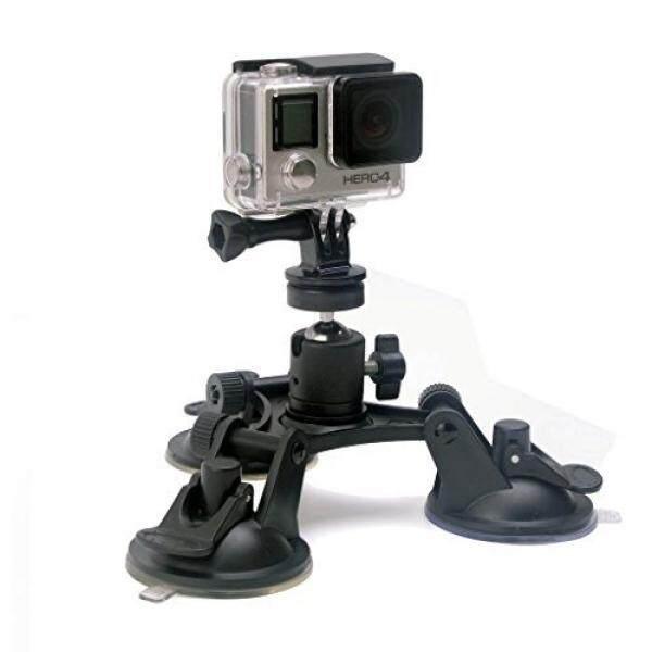 Kamera Saugnapfhalterung Kamerahalterung Super Tri-Cup Kamera Windschutzscheibe Saugnapf Halterung 360 Grad Drehende Camcorder Auto Saugnapf Halter F? R GoPro/Nikon/Canon/Pentax/Sony-Innomagi-Intl