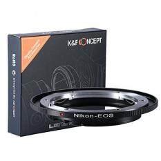 K&F Concept Nikon-F AI Canon EF EOS Objektiv Adapter 5D Mark II 7D 20D 60D 70D 100D 400D 450D 500D 550D 600D 700D 1000D 1100D Adapterring EFS camera Bajonett Kiss-x T2I t3 XS XTI XSI t1i Rebel Nikonf