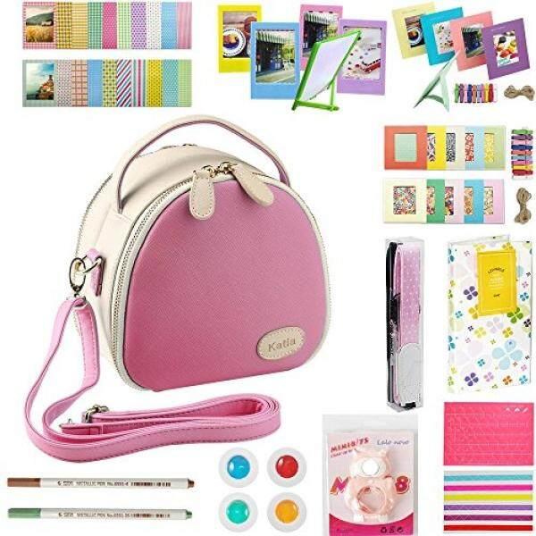 Katia Instant Camera Photo Zipper Bag Pink Film Photography Accessories Bundles for Fujifilm Instax Mini 8