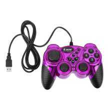 Vktech KD906 Creative Item USB Wired Game Controller Gamepad Joystick Joypad for A(Purple)