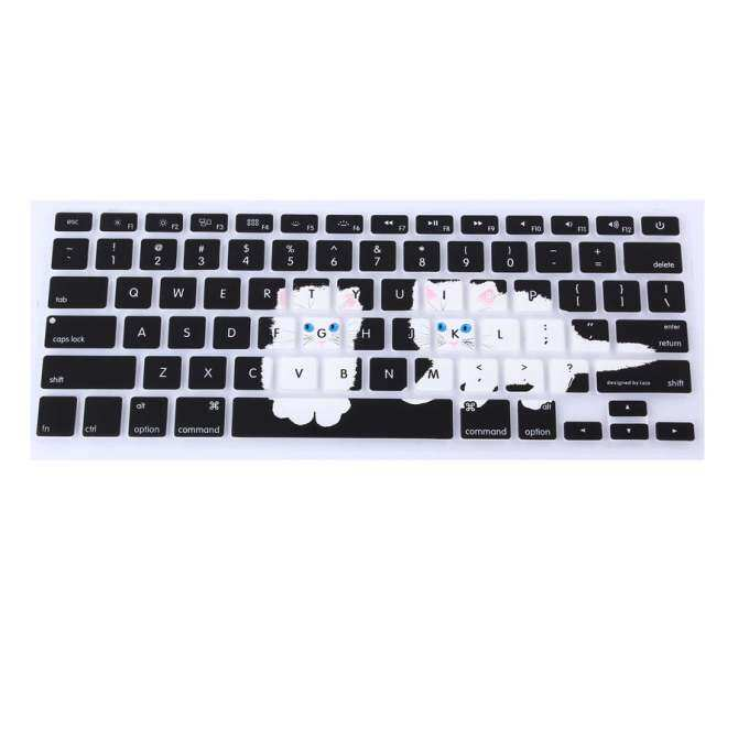 Lapisan Pelindung Keyboard 17 Inch untuk Apple MacBook Air MacBook Pro (Gradien Biru Langit Karakter)