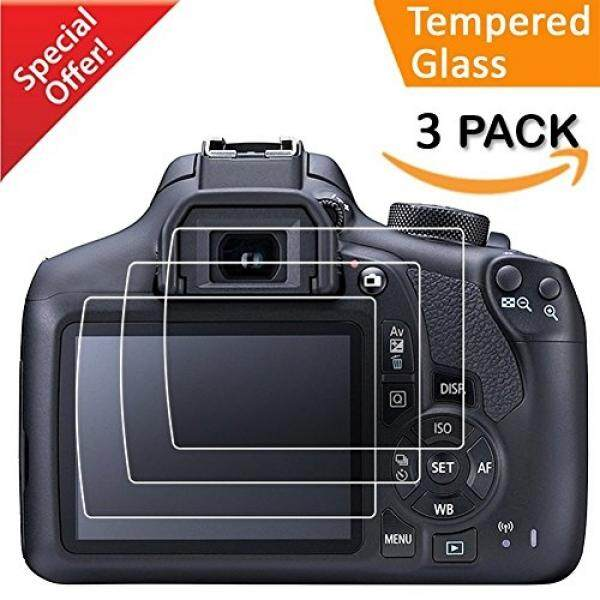 Kimilar Canon EOS 1300D Schutzfolie, 3-Pack GEH? rtetes Kaca Displayschutzfolie, 9 H Ultra-Klar F? R Canon DSLR Kamera (1300D 1200D T6 T5 Kuss X70 X80)-Intl