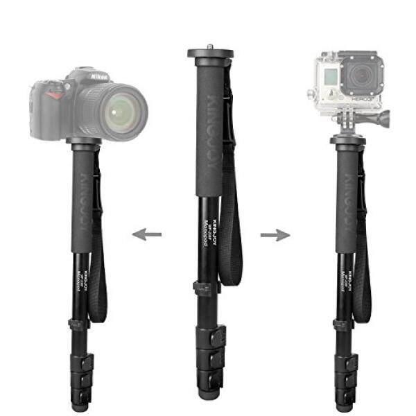 Kingjoy Aluminium 4 Bagian Flip Lock Profesional Kamera Monopod, kingjoy Stand Tripod untuk Canon Nikon Sony DV Kamera Digital dan Camcorder-Intl
