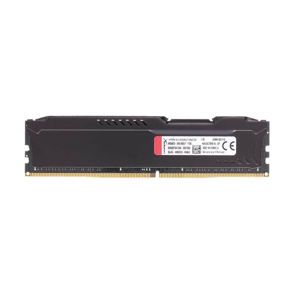 Kingston HyperX Fury Hitam 16 GB DDR4-2400 CL15 DIMM 288-Jarum 2Gx64Bit Desktop Memori Internal HX424C15FB/16- internasional