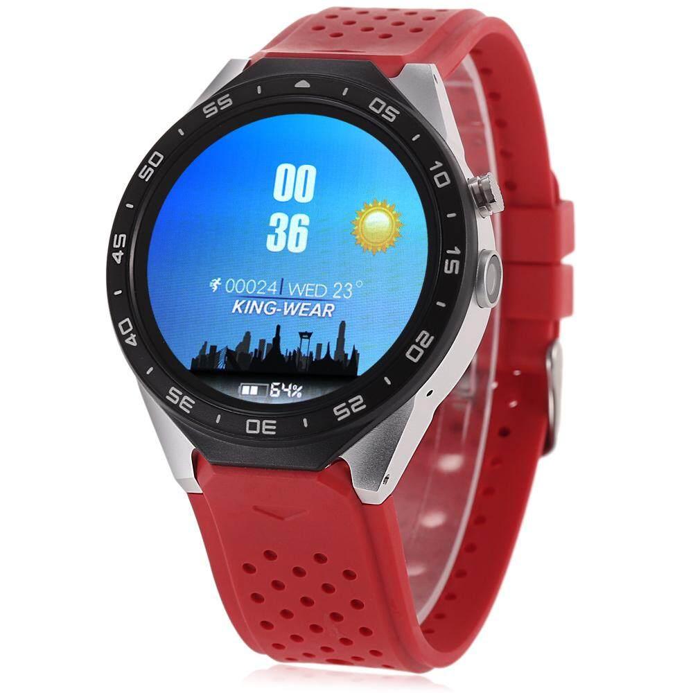 Kingwear KW88 Android 5.1 1.39 Inch AMOLED Layar 3G Ponsel Jam Tangan Pintar MTK6580 Quad Core 1.39 GHz 512 MB RAM 4 GB ROM GPS Sensor Gravitasi Pedometer RAM 512 MB + 4 GB Rom-Intl