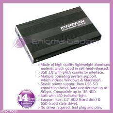 "KINGWIN 2.5"" external USB 3.0 SATA hdd/hard disk enclosure case Malaysia"