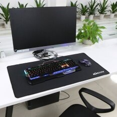Kkmoon 800*400*3mm Large Size Plain Black Extended Water-resistant  Anti-slip Rubber Speed Gaming Game Mouse Mice Pad Desk Mat (MY) Malaysia