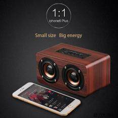Kobwa High Quality Wood Grain Bluetooth Stereo Speaker Dual Louderspeakers Super Bass Subwoofer Malaysia