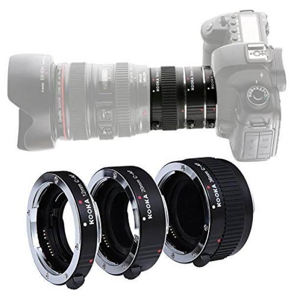 Kooka KK-C68 Automatic Zwischenringe 3-teilig 12 Mm, 20 Mm & 36 Mm F? R Makrofotographie Passend Zu F? R Canon EOS 5D2 5D3 6D 650D 750D 5D MarkII 60D DSLR Kameras-Intl