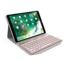 fehiba Ultra Thin Protective Folio Stand Smart Cover With 7 Colors Backlit Wireless Bluetooth Keyboard For