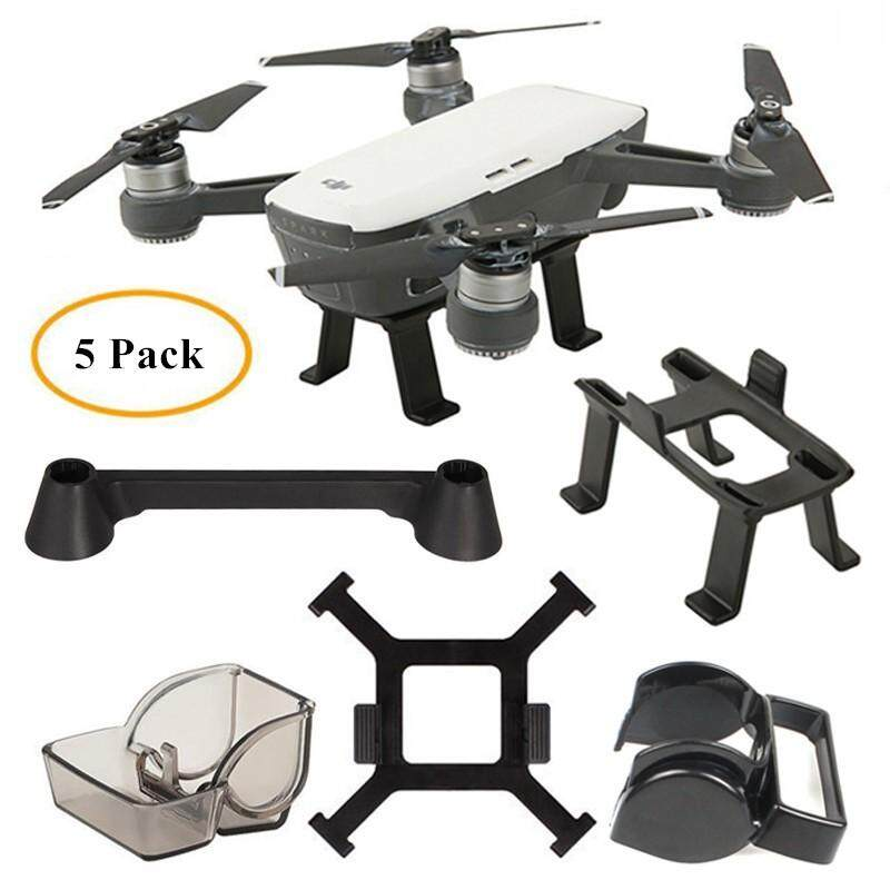 Landing Gear, Gimbal Camera Cover,Lens Hood, Remote Controller Transmitter Joystick Protector, Propeller Stabilizers for DJI SPARK - intl Philippines
