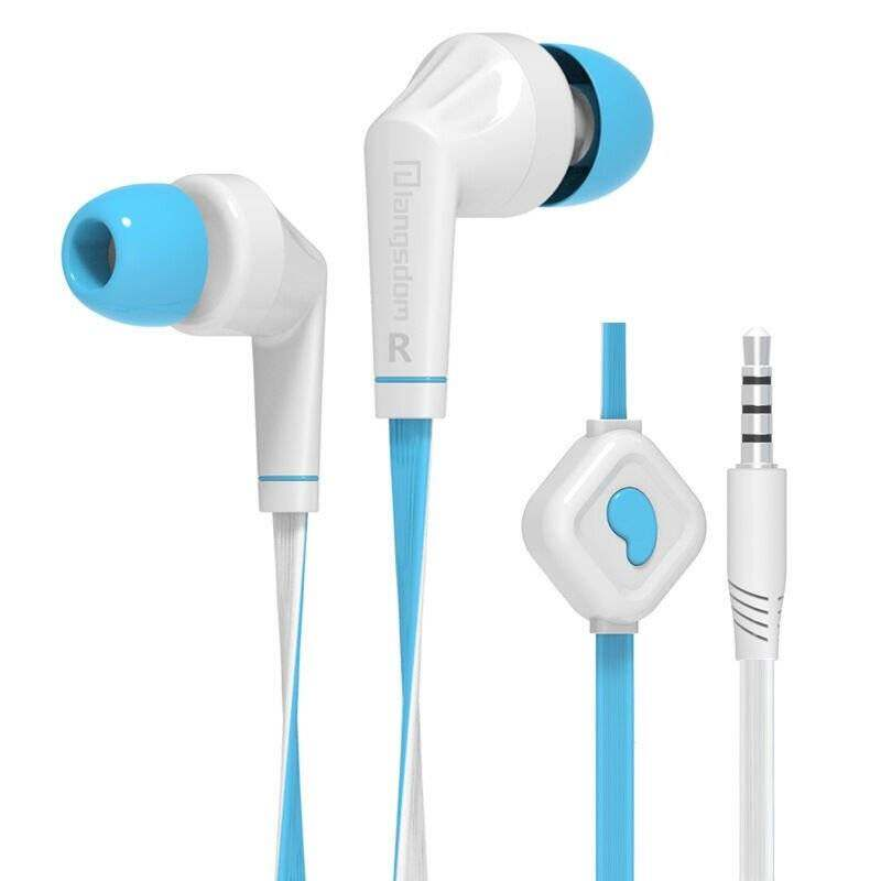 Langsdom JD88 Earphone Dalam Telinga Kualitas Tinggi Stereo Headset Bas Handsfree 3.5 Mm Alat Pendengar dengan Mikrofon untuk iPhone Samsung MP3 Ponsel PC (Biru)