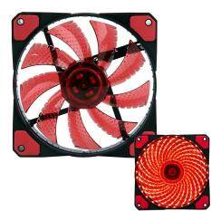 lanyasy 3-Pin/4-Pin 120x120x25mm LED Quiet Edition High Airflow Low Noise High PressureFan Single Pack 30-RLED Mini Cooling Cooler Fan, Red