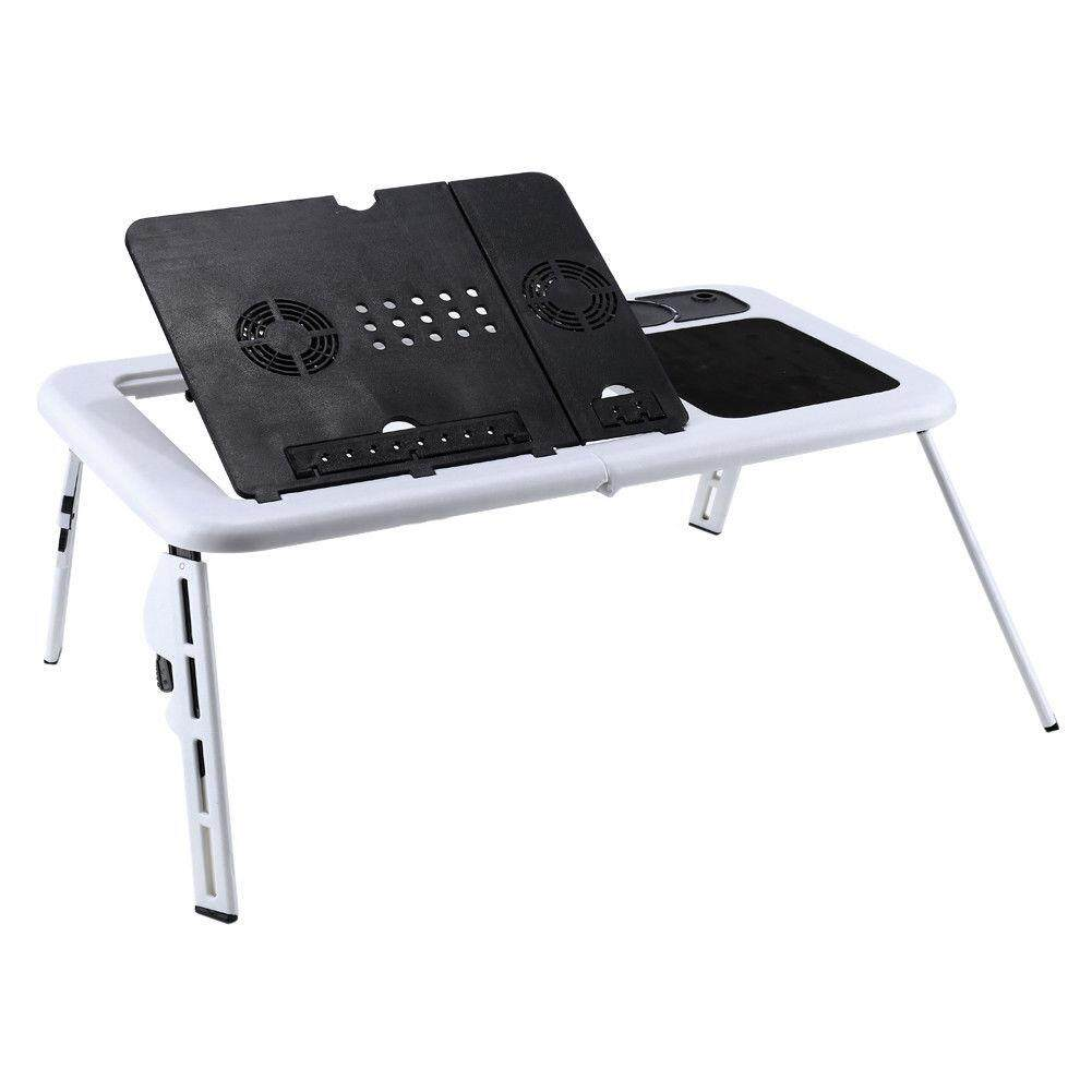 Laptop Desk Foldable Table e-Table Bed USB Cooling Fans Stand TV Tray - intl