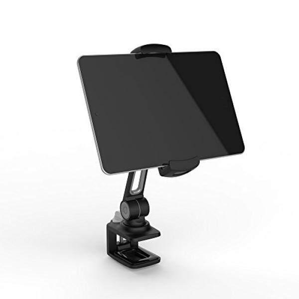 Laricare Stan Telepon Laricare Penyangga Meja Tempat Ponsel 360 Derajat Putar Aluminium Adjustable Klem Kokoh untuk Kamera, iPad, Iphone samsung dan Ponsel Pintar Lainnya LD204B (Hitam)-Intl