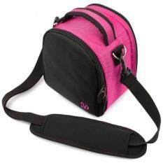 Laurel Compact Edition Hot Pink DSLR Camera Carrying Handbag with Removable Shoulder Strap for Canon EOS DSLR Camera Model EOS-600D / EOS Rebel T3i / EOS Kiss X5 / EOS-1100D EOS Rebel T3 / EOS Kiss X50 / EOS 550D / EOS Rebel T2i / EOS Kiss X4 / EOS 5