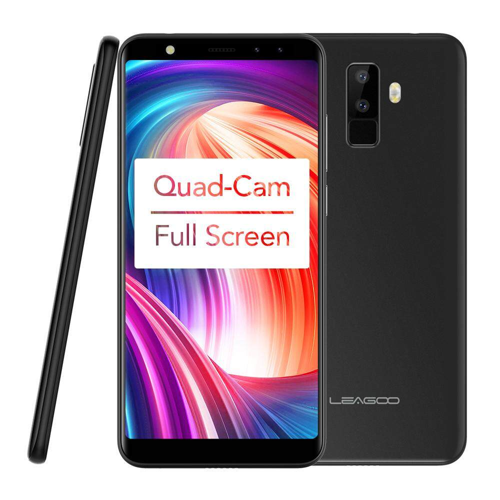 Purchase Leagoo M9 Quad Cam 18 9 Full Screen Mobile Phone Fingerprint 5 5 Inch Android 7 2Gb 16Gb Intl