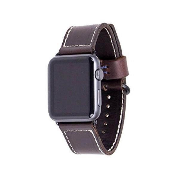 Kulit Apple Jam Tangan Tali 42 Mm-Burdy Horween Kulit Apple Pintar Jam Tangan Tali dengan Perangkat Keras Hitam-Dibuat Di amerika Serikat Oleh Bahan Kasar-Internasional