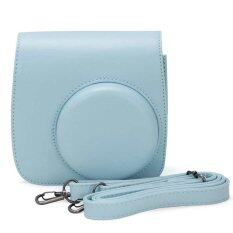 Leather Camera Case Bag Cover For Fuji Fujifilm Instax Mini8 Mini8s Single Shoulder Bag (blue) By Tomtop.