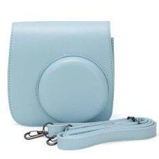 Leather Camera Case Bag Cover For Fuji Fujifilm Instax Mini8 Mini8s Single Shoulder Bag (blue) By Tomtop.