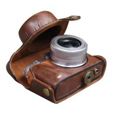 Leather Camera Case Bag Cover Pouch For Panasonic GF8 GF7 BK