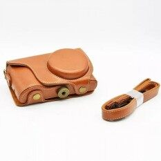 Kulit Camera Case Untuk Samsung GALAXY EK-GC100 GC100 GC200EK-GC-200 Kamera Digital PU Kulit Camera Bag Cover (Coklat)