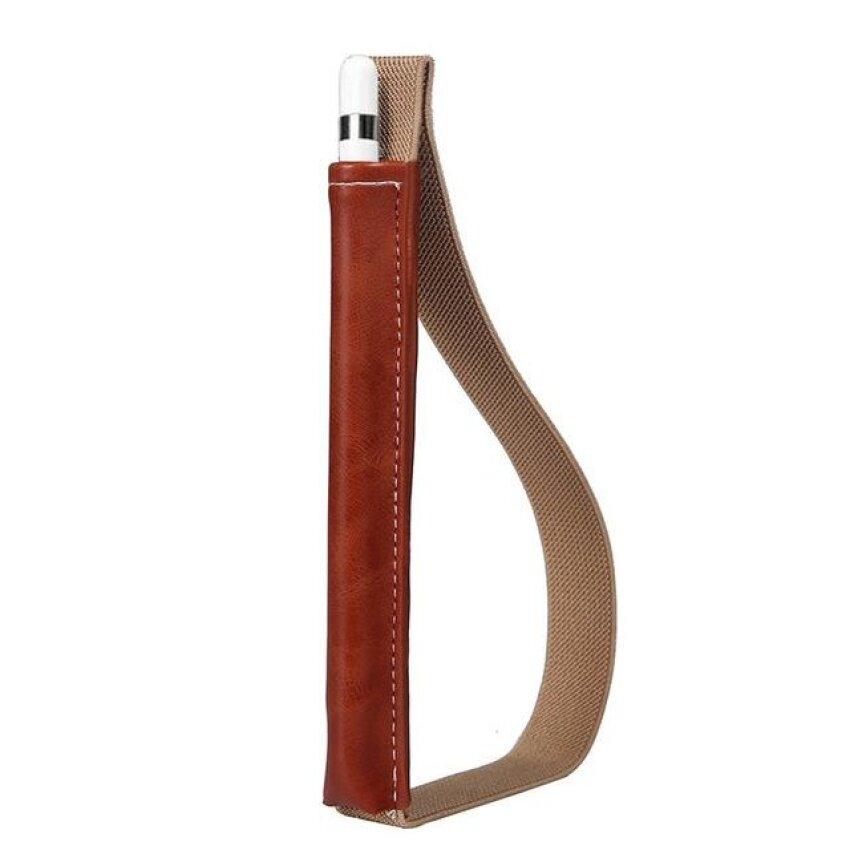 Kulit Case Sarung Kantung untuk Apple Pensil Pulpen Saku Penahan untuk iPad Pro