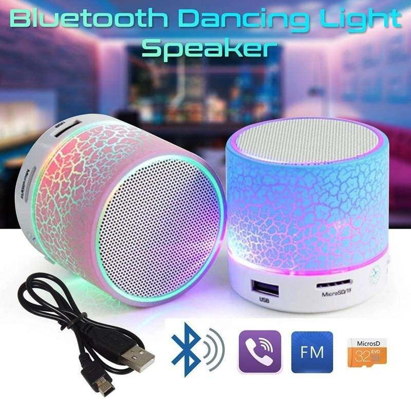LED Portable Mini Bluetooth Speakers Wireless Hands Free Speaker With TF USB FM Mic Blutooth Music
