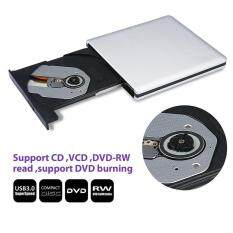 leegoal External CD DVD Drive, Portable DVD Rewriter Burner, CD ROM DVD-RW Rewriter With Sturdy Aluminum Housing USB 3.0 SATA Optical Drive For Laptop, Desktop Macbook, Mac OS And Windows 10/8/7